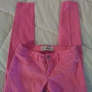 Bright pink hollister jeans